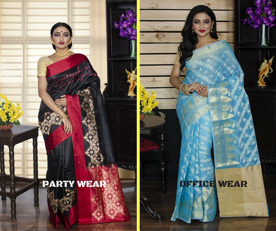Sarees according to occasion