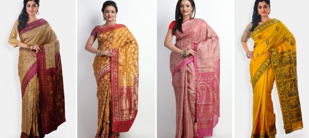Brilliantly designed motifs in the silk sarees of Indian Silk House Exclusives