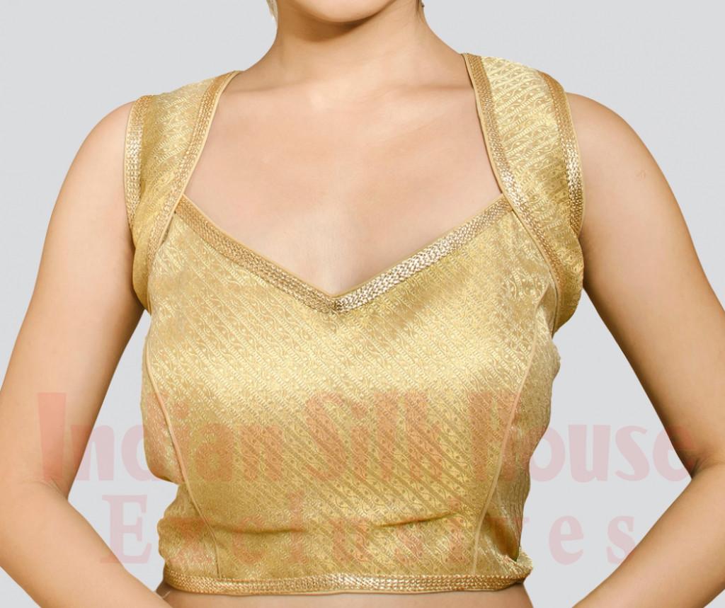 V neckline blouse design