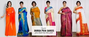 Stylish Sarees to wear this Durga Puja