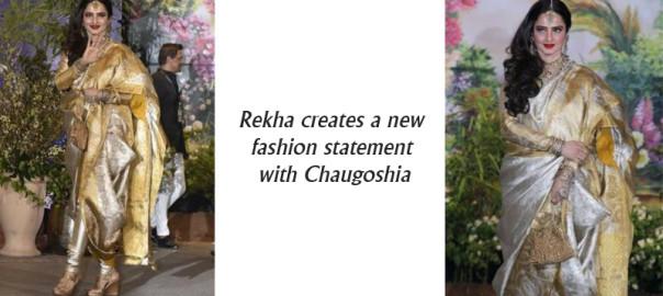 Rekha dazzled in an electrifying Chaugoshia