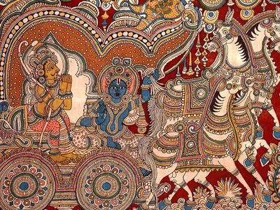 Kalamkari saree print