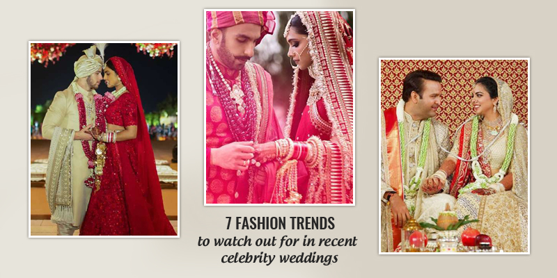 Fashion trends of celebrity weddings