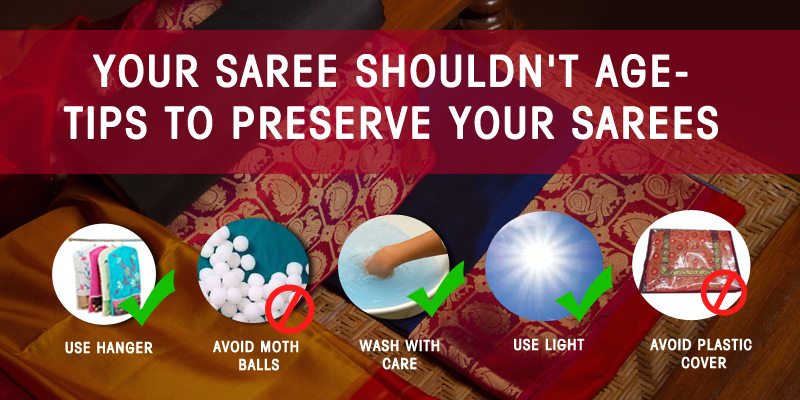 Tips to preserve sarees