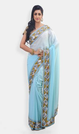 PURE CREPE SAREE