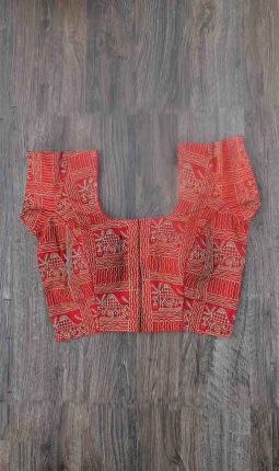 EMBROIDERY PADDED BLOUSE
