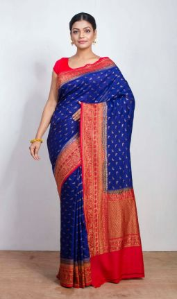LINEN-GEORGETTE SAREE