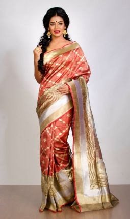 DUPION TISSUE SAREE