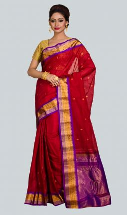 COTTON - SILK GADHWAL SAREE