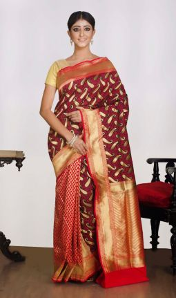 SILK - GEORGETTE SAREE