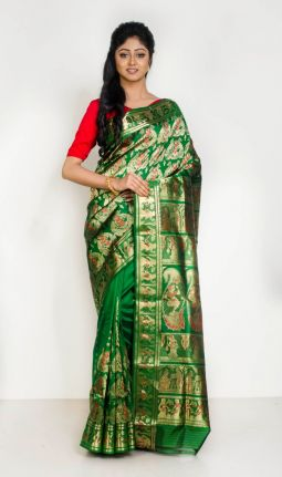 BROCADE BALUCHARI SAREE