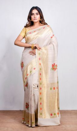 TUSSAR GEORGETTE SAREE