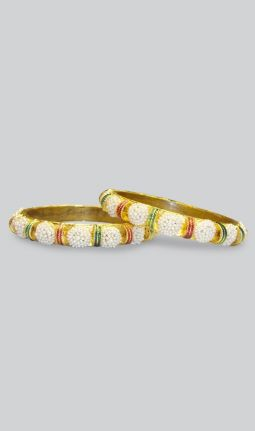 BANGLES WITH FAUX PEARLS